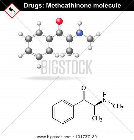 Methcathinone Recreational Drug Molecule
