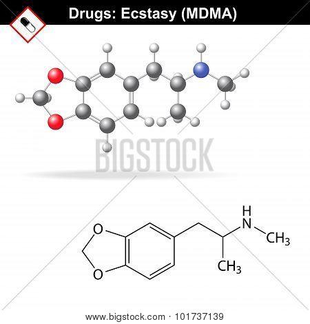 Ecstasy Mdma Drug Structure