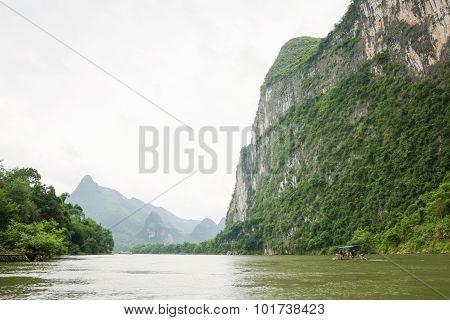 Landscape at Li river in china