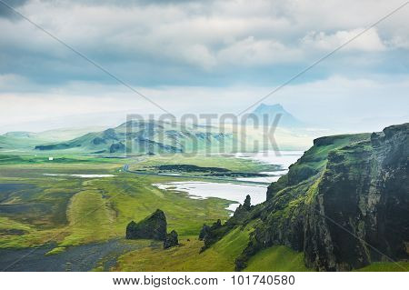 Fantastic Landscape With View Of The Hills And Mountains