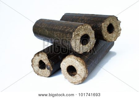 Biomass compressed briquettes