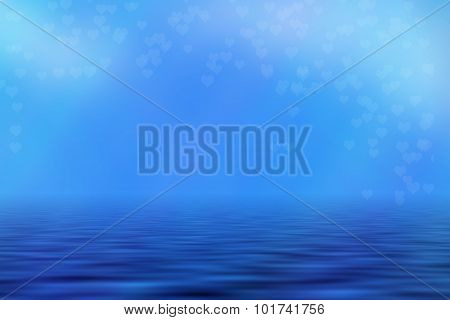 Blue Seascape Background