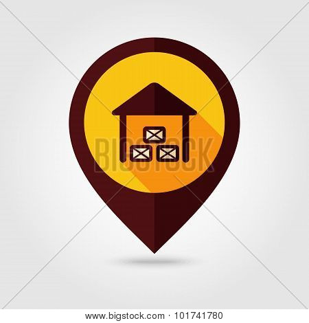 Shed Flat Mapping Pin Icon