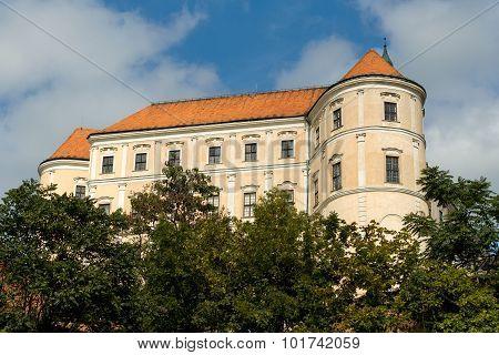 Castle In City Mikulov In The Czech Republic