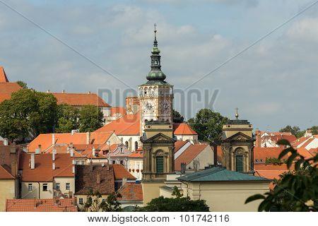 Church In City Mikulov In The Czech Republic