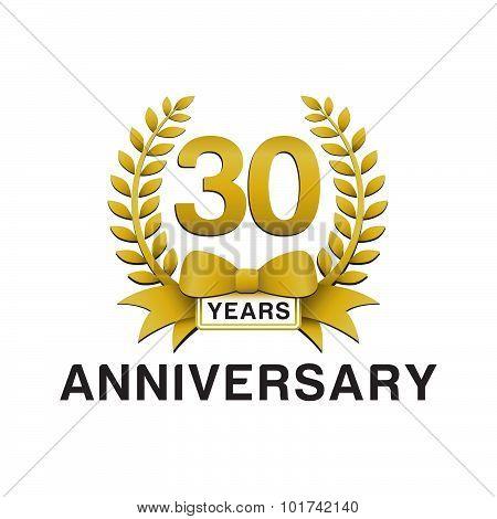 30th anniversary golden wreath logo