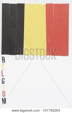 Vertical Belgian Flag