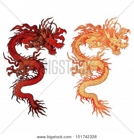 Chinese Dragon With Two Color Options Clarification