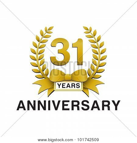31st anniversary golden wreath logo