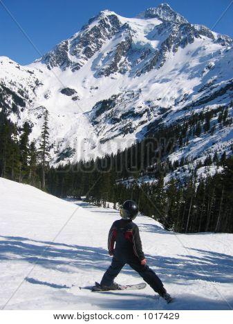 Boy Skiing At Mt Baker