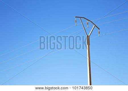 Utility Pole In Africa Morocco Energy And Distribution