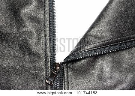 Zip On Leather Coat 2