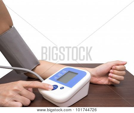 Woman Hand And Measuring Blood Pressure 2