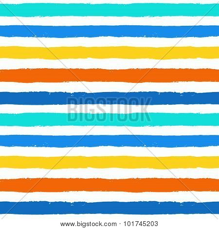 Vector Brush Strokes Colorful Seamless Pattern