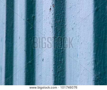 blue corrugated vintage metal wall