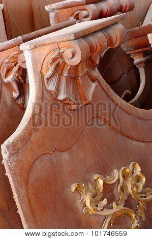 Decorative panels baroque detail carving