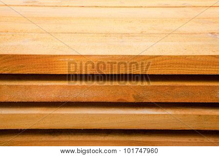 Board Pine Wood in stacks. Tree Texture