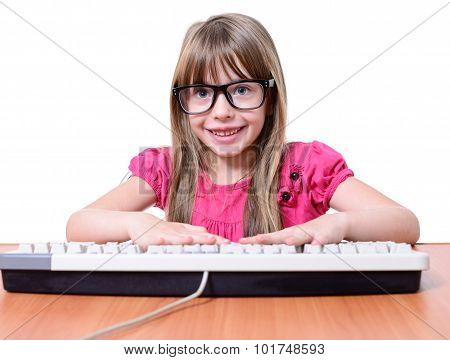 Girl With Keyboard.