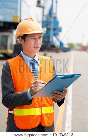 Port Manager In Uniform
