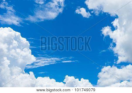 Blue Sky With Cloud 1