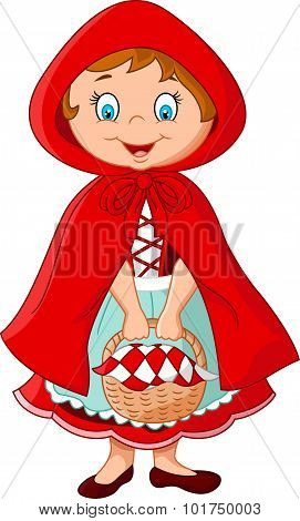 Cartoon fairy princess with robe