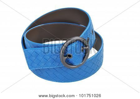 Blue Women Leather Belt