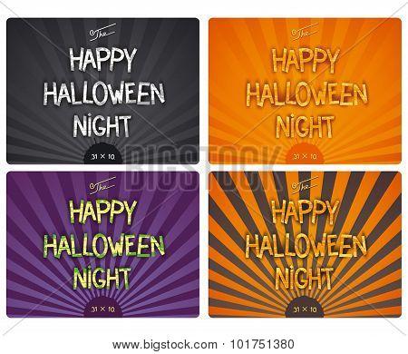Set Happy Halloween Night posters