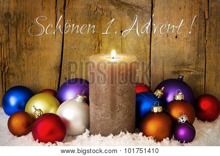 Postcard With Christmas Decoration