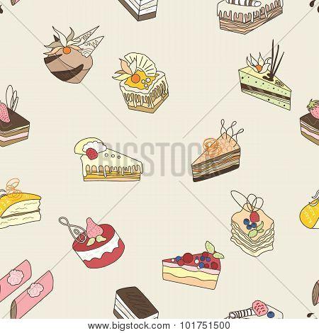 Cake vector pattern