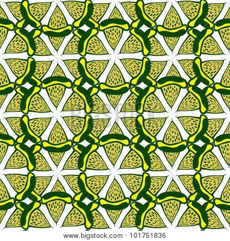 Lime seamless pattern . Hand drawn vector background for fabric, textile, wrapping and packaging.