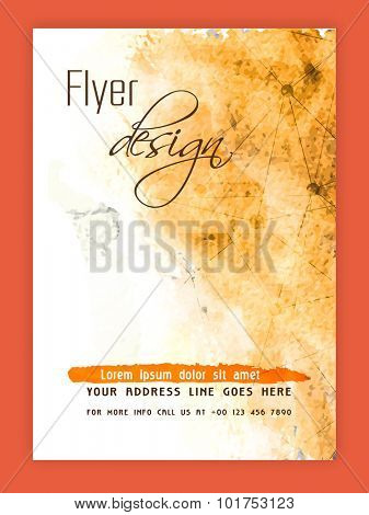 Creative abstract flyer, template or banner design with color splash