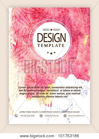 Beautiful floral design and color splash decorated, creative flyer, template or banner design.