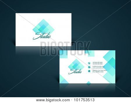 Creative abstract design decorated, horizontal business card, name card or visiting card set for your company and organization.
