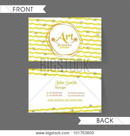 Beautiful floral decorated, horizontal business card, name card or visiting card set for your profession.