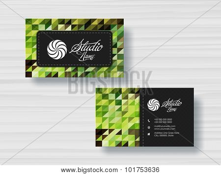 Stylish horizontal business card, visiting card or name card set for your company, profession and organization.