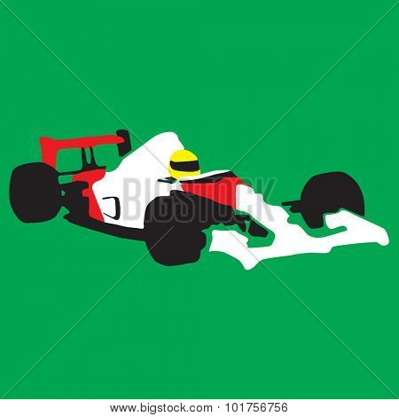 Car race sport illustration - vector