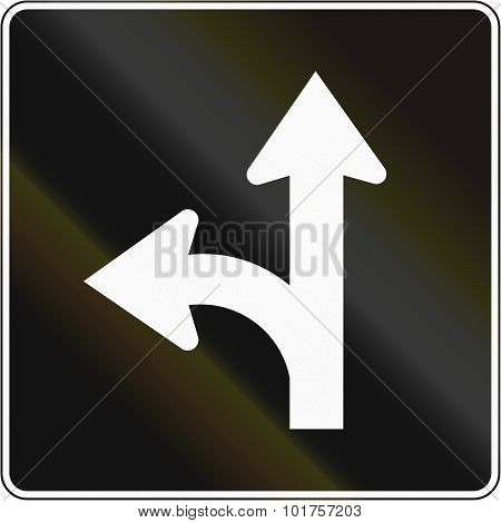 Left Turn And Straight Lane In Canada