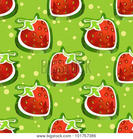 strawberry seamless background
