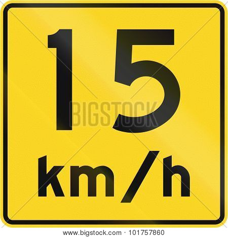 Speed Limit 15 Kmh In Canada