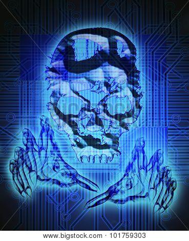 Digital Crime Concept Digital Illustration