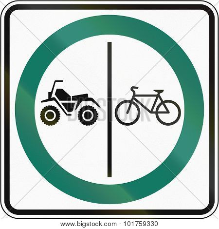 Bicycle And Atv Lane In Canada