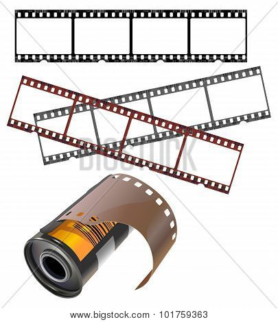 Negative Frames And Isolated Film Canister