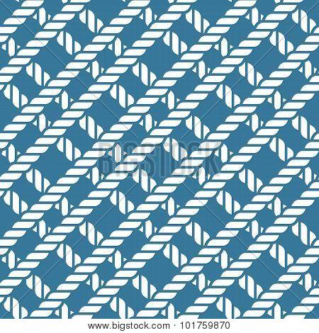 Seamless Nautical Rope Knot Pattern, Lattice