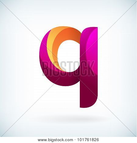 Modern Twisted Letter Q