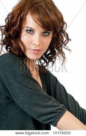 Beautiful Young Woman Making Eye Contact