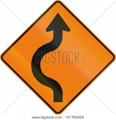 Two-reverse Curve To The Left In Canada