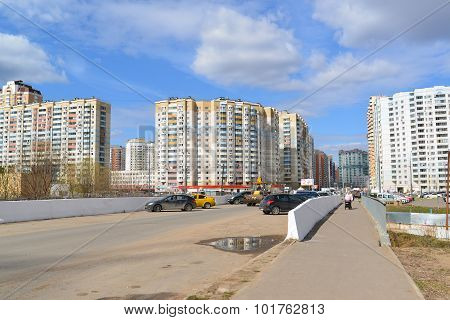 Krasnogorsk, Russia - April 22,2015: The New Construction Districts In  Suburbs. Area Of Residential