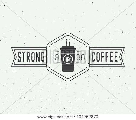 Vintage Coffee Logo, Badge Or Emblem.