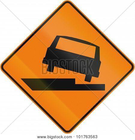 Uneven Road In Canada