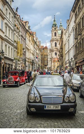 Czech Republic, Prague, September 10: One Of The Authentic Streets In Old Town